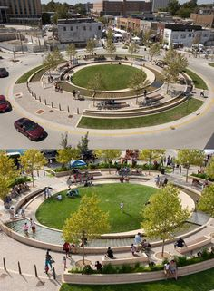 Awesome traffic circle (for people!) in Normal, Illinois.: Awesome traffic circle (for people!) in Normal, Illinois. Landscape Architecture Design, Landscape Architects, Architecture Diagrams, Architecture Portfolio, Japanese Architecture, Classical Architecture, Ancient Architecture, Sustainable Architecture, Plaza Design