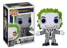 """This Beetlejuice Pop Movies Vinyl figure stands 3 3/4"""" tall. The sylized vinyl figure has a rotating head and comes in a displayable window box. #funko #collectible #popvinyl #actionfigure #toy #Beetlejuice"""
