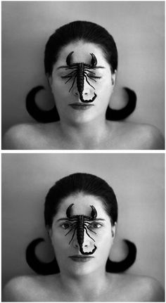 Portrait with Scorpion, Marina Abramovic (2005).