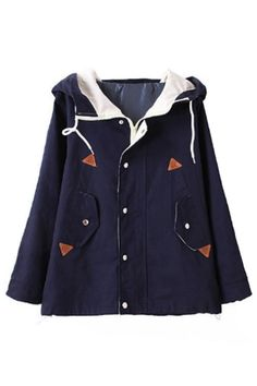 Preppy Chic Hooded Jacket