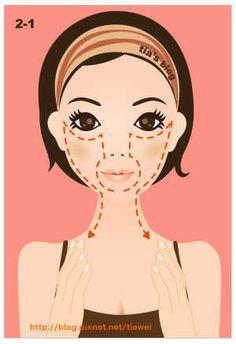Омолаживающий Массаж Асахи (ZOGAN) для лица в картинках (3) (300x438, 68Kb)