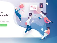 Alexis Landing Page Illustration designed by Ghani Pradita for Paperpillar. Connect with them on Dribbble; Website Illustration, Flat Design Illustration, People Illustration, Character Illustration, Graphic Illustration, Web Design Mobile, Design Ios, Web Layout, Layout Design