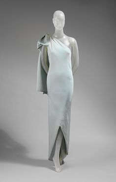 Dress, Evening.  House of Balenciaga  (French, founded 1937).  Designer: Cristobal Balenciaga (Spanish, 1895–1972). Date: 1965. Culture: French. Medium: silk. Dimensions: Length at CB: 59 in. (149.9 cm).