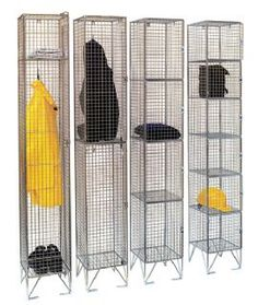 Wire Mesh Clothing & Equipment Storage Wardrobe c/w 2 Shelves