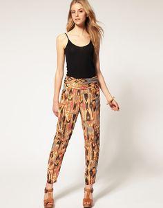 New print pants