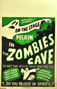 Spook Show Zombies Cave Poster Vintage Halloween Posters, Retro Halloween, Halloween Items, Halloween Signs, Horror Movie Posters, Movie Poster Art, Horror Movies, Film Posters, Event Posters