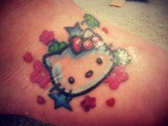 My Hello Kitty Tattoo on my foot!