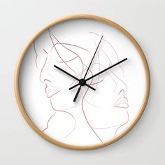 Authîel Minimalist Wall Clock by weivy Minimalist Wall Clocks, Minimalist Decor, Face Towel, Presents For Friends, Good Cause, Hand Towels, Line Art, Ivy, My Design