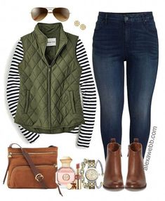 winter outfits plus size Stunning Winter Outfits I - winteroutfits Preppy Fall Outfits, Outfits Winter, Plus Size Winter Outfits, Fall Outfits 2018, Mode Outfits, Casual Outfits, Winter Clothes, Vest Outfits, Fall Fashion Trends