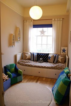 IKEA bed... love textiles and colours