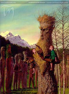 Treebeard and the Entmoot ~ Ted Nasmith.