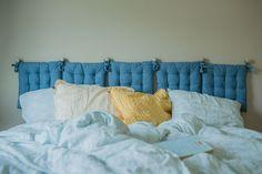 Kodin1, Vierasblogi modernekohome, Asuntomessutalon DIY-vinkit makuuhuoneeseen, pehmeä sängynpääty