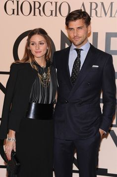 Olivia Palermo Photos - Olivia Palermo (L) and Johannes Huebl, wearing  Armani, attends Giorgio Armani One Night Only NYC at SuperPier on October  2013 in New ... 8e65758f837