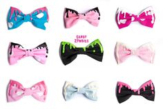 Hair bows perfect for Pastel Goth Style