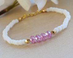 Set de tres pulseras de brazalete de cristal por HeartofGems