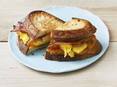 B.E.G. Sandwiches (Bacon-Egg Griddle Sandwiches) recipe from Food Network Magazine via Food Network