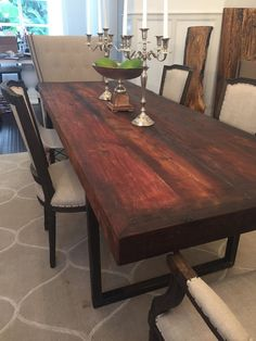 Rustic reclaimed cedar dining table by UmbuzoRustic on Etsy