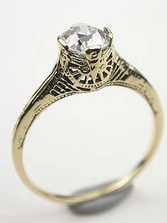 1920s Old European Cut Diamond Engagement Ring