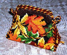 Autumn Leaves. No pattern or color chart.  сумочка-игольница схемы: 6 тыс изображений найдено в Яндекс.Картинках