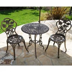Relax Outdoors With The Rose 3 Piece Bistro Patio Set. A Charming And  Traditional