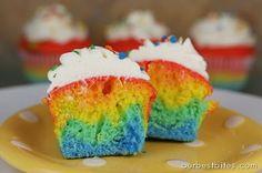 Colorburst Cupcakes | Our Best Bites