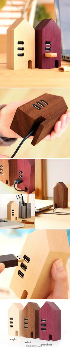 THE WOOD COLLECTOR | Japanese Hacoa Wooden USB Hub House