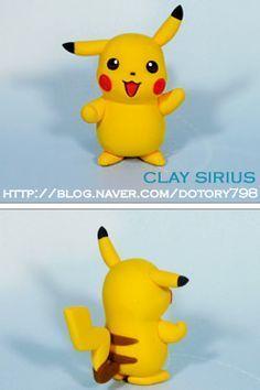 Turorial : How to make Pikachu (Pokemon) in polymer clay / Tutoriel : Réaliser Pikachu (Pokemon) en pâte polymère Vous pouvez cliquer sur l'image pour l'agrandir ^^ En vidéo : source : http://blog.naver.com/PostThumbnailView.nhn?blogId=dotory798&logNo=100102668535&categoryNo=111&parentCategoryNo=...