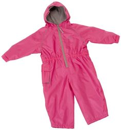Hippychick Fleece Lined Waterproof All-in-One Suit - Pink, 12-18 Months