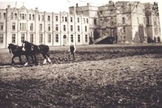 Ploughing at Rathfarnham Castle Old Pictures, Old Photos, Vintage Photos, Gone Days, Dublin Street, Photo Engraving, World History, Historical Photos, Ireland