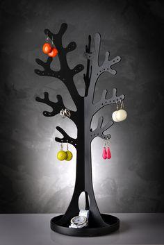arbre à bijoux Jewelry Tree, Jewelry Stand, Wooden Jewelry, Design Vitrail, Wood Crafts, Diy And Crafts, Gravure Laser, Bijoux Design, Wooden Organizer