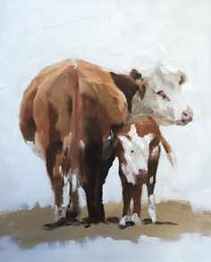 Cow Painting Cow Art Cow PRINT - Cow Oil Painting Holstein Cow by JamesCoatesFineArt on Etsy