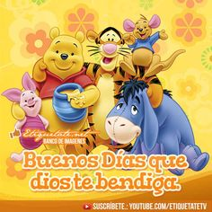todo mensaje de buenos dias para mi amor - Buscar con Google Pooh Bear, Friend Pictures, Winnie The Pooh, Good Morning, Decir No, Smurfs, Disney Characters, Fictional Characters, Virginia