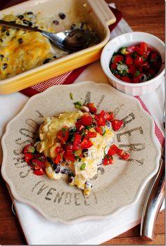 Green Chili and Chicken Easy Enchilada Cassarole