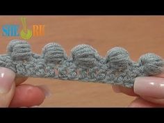 ▶ Work Puffy Bullion Block Stitch Crochet Tutorial 40 Part 3 of 7 Great Trimming Idea - YouTube