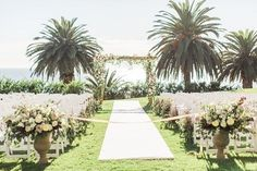 Beach wedding with palm trees | Planned by Ilana Ashley Events