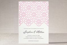 Bohemian Lace Letterpress Wedding Invitations by Monica Schafer at minted.com