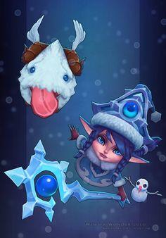 LoL: Winter Wonder Lulu by MissMaddyTaylor