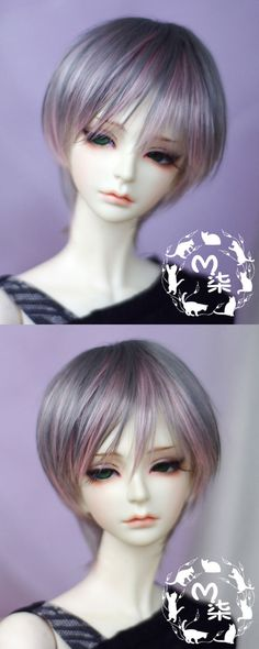 ドール用ウィッグ SD/MSD/YSDサイズ人形用ウィッグ 灰色