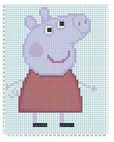 Knitting Patterns Jumper Peppa Pig knitting and crochet patterns! Mosaic Knitting, Intarsia Knitting, Jumper Knitting Pattern, Intarsia Patterns, Knitting Charts, Knitting Patterns Free, Stitch Patterns, Crochet Patterns, Knitting For Kids