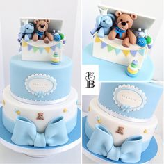 Baby Shower Cake | Instagram photo by @bellasbakery