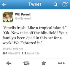 Smells fresh…. OMG I can't stop laughing. Those commercials are so stupid!!