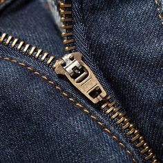 It wasn't until 1947 that the zipper fly was added to blue jeans, the point being to appeal the product to more female customers who found the button fly to masculine & to lack modesty.