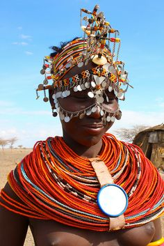 Africa |  Masai bride {interesting use of the mirror } Northern Kenya | © Jeremy Curl