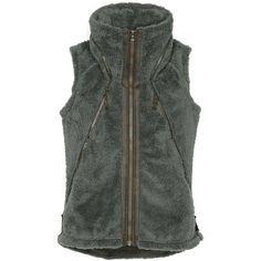 Kuhl Women's Flight Vest featuring polyvore, fashion, clothing, outerwear, vests, breen, kuhl, vest waistcoat, vintage vest, hooded vest and zip vest
