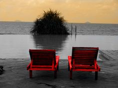 Two Red Chairs: Photo by Photographer Kamaruddin Said