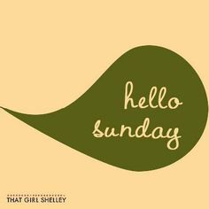 Happy Sunday! How do you prepare for the week?