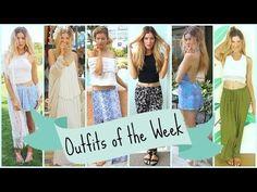 Outfits of the Week: Spring Break ☼ Island Lookbook - YouTube