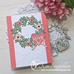 Valentine Greeting Cards, Greeting Cards Handmade, Valentines, Wondrous Wreath, Stampinup, Love Cards, Creative Crafts, Stampin Up Cards, Wedding Cards