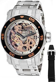 29ebc7ca5506 Invicta 10306 Pro Diver Blue Mechanical Skeleton Watch For Men Erik but in  red
