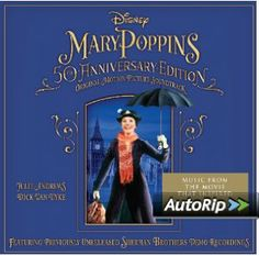 Original Motion Picture Soundtrack for the movie Mary Poppins Anniversary Edition composed by Richard Sherman, Robert B. Sherman, released by Walt Disney Records in 2013 Sherman Brothers, Saving Mr Banks, Glynis Johns, Mary Poppins Movie, Disney Blu Ray, Uncle Albert, Soundtrack Music, Walt Disney Records, Music Sites